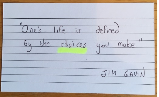 """""""One's life is defined by the choices you make"""""""