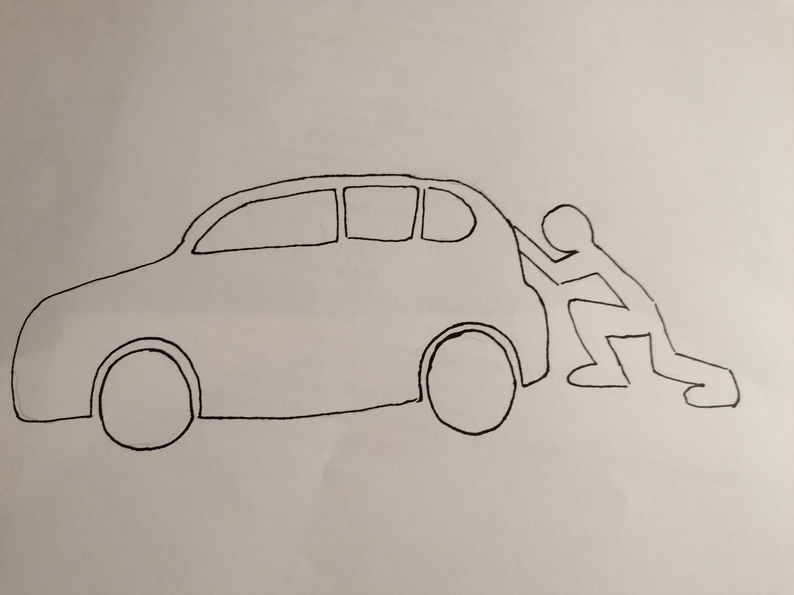 Have you ever pushed a car?  If so, you'll have noticed something…